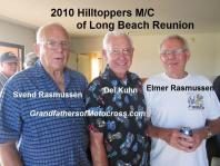 Rasmussen brothers 2010 Hilltoppers MC Reunion & Del Kuhn in center