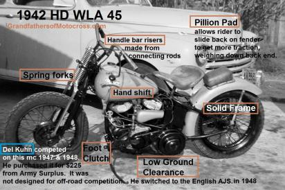 1947 4-20 a1cc Seacoast H&H, Kuhn rode his HD 45, not designed for off road but won 3rd (2)