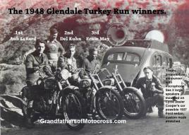 1948 12-19 a5 Glendale MC H&H, winner LeBard, 2nd Kuhn, 3rd Ernie May