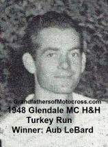 1948 12-19 a7 Winner Aub LeBard, Glendale MC H&H TURKEY RUN