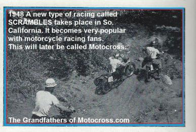 1948 7-0 a3 An early motocross called Scrambles & its Inauguration