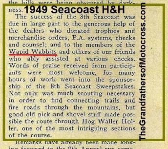 1949 6-0f Seacoast, thanks to helpers WAPID WABBITS MC