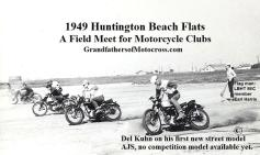 1949 a5 Huntington Bch Flats, Del on 1st new AJS mc 49 St. machine from Cooper, not competition model available yet