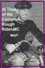 1950 3-19 a3 event 1947 Al Titus, a member of the Compton Rough Riders MC