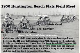 1950 5-7 a1 Huntington Beach Flats, Field Meet, Kuhn, Nicholson, Gunther & Russ Good .