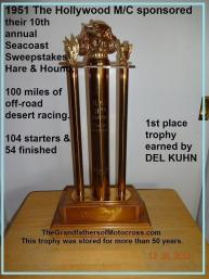 1951 4-15 a11 Hollywood MC 10th Seacoast Sweepstakes trophy, Kuhn wins, photo 2013