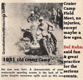 1951 6-0 cc12 Old Crater Camp Field Meet, spill no injuries, Good practice