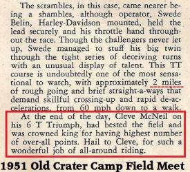 1951 6-0 cc2c Old Crater Camp, WINNER, Cleve McNeal, a Native American