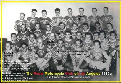 1952 12-7 a3 Rams MC (1950c) members, Kuhn identified known to him members