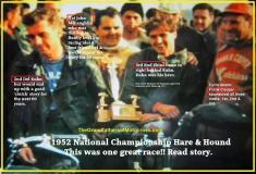 1952 12-7 d9a Kuhn AJS 2nd , Rams Natl. H&H, 1st J. McLaughlin, 3rd Bud Ekins