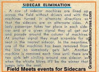 1953 11s English Trials has events to SIDECARs game
