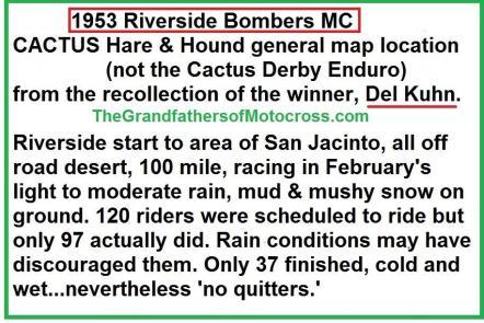 1953 2-1e3 Riverside Bombers MC Cactus H&H, conditions