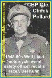 1953 5-0p4 well liked, CHP ofcs. Chuck Pollard, safety ofcs. for races