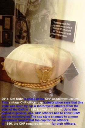 1953 5-0p7 2014 CHP academy museum, CHP officer cap hat