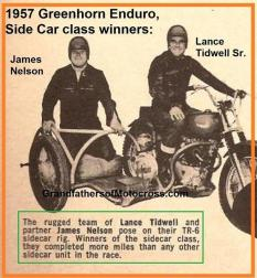 1953 5s Examples of Expert Sidecar experts, Lance Tidwell & James Nelson