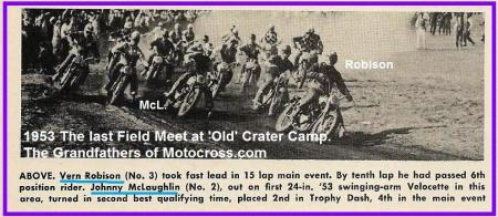1953 6-0cy 2h Vern Robison & McLaughlin, last Field Meet at Old Crater Camp