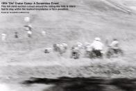 1954 2-0p7 Riders go up hill at new Crater Camp at Scrambles