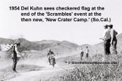 1954 2-0q8 Del Kuhn #21 on Triumph at new Crater Camp at Scrambles - Copy