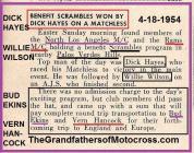 1954 5-0a MCist NLA MC & Rams MC Scrambles benefit, D Hayes, W Wilson for B. Ekins & V. Hancock