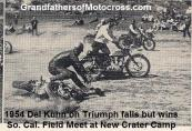 1954 a2 Kuhn falls but wins So. Cal. Field Meet at new Crater Camp, most points earned