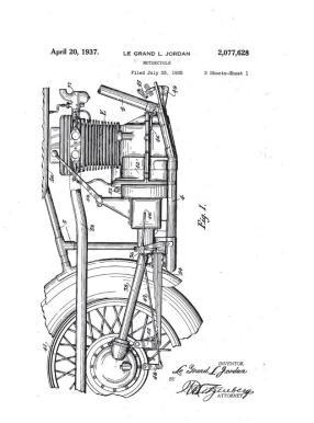 c11 LeGrand Jordan patent for his Jordan Four motorcycle