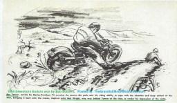 1954 a22 Greenhorn Enduro sketch by BUD WRIGHT