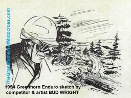 1954 a23 2 day Greenhorn Enduro sketch by BUD WRIGHT