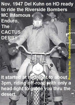 1992 4-25 a16 Riverside Bombers 1947 CACTUS DERBY Del Kuhn on HD starts at midnight