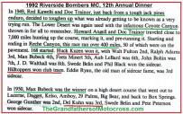 1992 4-25 a19 Riverside Bombers Dinner, 1949 & 1950 Theme, CACTUS DERBY history