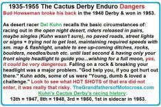 1992 4-25 a42 1935-1955 Cactus Derby dangers & Del Kuhn Cactus Derby history
