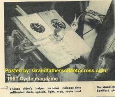 1992 4-25 a43 CACTUS DERBY, ENDURO RIDER CLIPBOARD, clock, speedo, route card, map