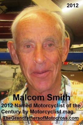 1992 4-25 a53 1965 Cactus Derby winner Malcom Smith, 2012 at 100th anniversary Motorcyclist mag,
