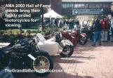 AMA 2003 10-5e AMA guests bring their motorcycles