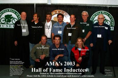 AMA 2003 10-5nn Hall of Fame recipients2003 Inductees