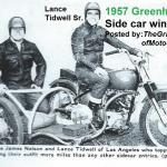 1957 6-1b4 side car winners LANCE TIDWELL & JAMES NELSON