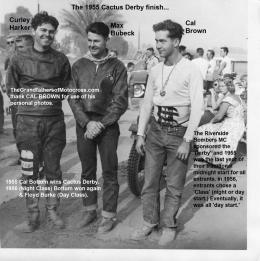 Cactus Derby 1955 15-0b Cactus Derby Curly, Curley Harker, Max Bubeck & Cal Brown
