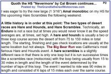 Hare Scrambles 1957 CB2 Words of wisdom, Nevermore by Cal Brown