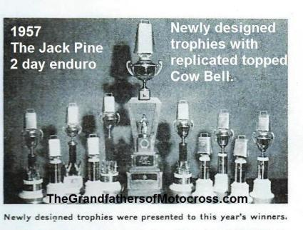 Jack Pine 1957 9-2 a12 Jack Pine Enduro COW BELL trophies