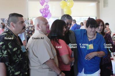 Richard, Art, Carol, Gilbert, Yolie, Glenda