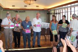 The winners, Bill, Paul, James & Donnie