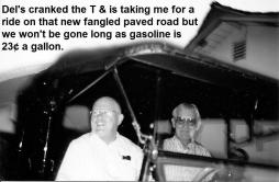 Del & Paul are going to run out of gas in Model T