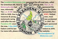 1950s PMC a2 sponsors the Greenhorn Enduro motorcycle race again 1947-1979