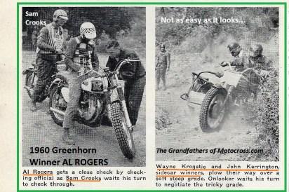1960 Greenhorn r12 Al Rogers, Sam Crooks, Wayne Frogstie, John Kerrington sidecar