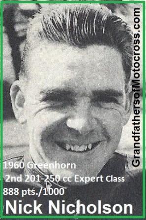 1960 Greenhorn r28 N. Nicholson 2nd 201-250 cc 888 pts.
