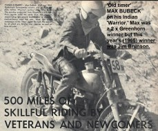 1965 Greenhorn, d1 Max Bubeck on Indian Warrior