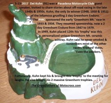 2017 3-13 a7a PMC meeting, Del Kuhn shares 1949 ceramic trophy story PMC