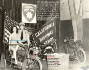 CHP 1953 Public Affairs Ofc. Kuhn & old motorcycles of Chuck Pollard
