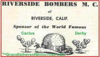 1951 a1 Cactus Derby sponsored by Riverside Bombers MC