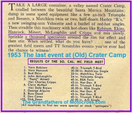 1953 6-e RESULTS Last Field Meet at Old Crater Camp