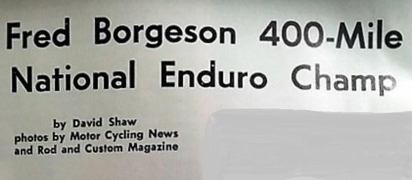 1961 Greenhorn 06 Fred Borgeson wins NATIONAL Greenhorn enduro